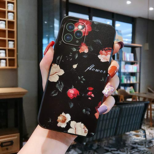 Funda de teléfono móvil a prueba de caídas para iPhone 12 11 Pro 12Pro 11Pro Max X 8 7 6 6S Plus Funda para iPhone Xr Xs Max 5 5S Se 2020 6 S 7Plus Flores caso