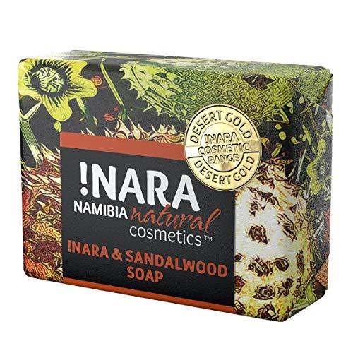 Nara Seife mit Sandelholz, handgemachte Naturkosmetik Öl-Seife zur täglichen Gesichtspflege und Körperpflege (1x80 gr)