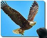 Alfombrilla de ratón 30 * 25 * 0.3cm con Borde de Bloqueo Soar Eagles Calvo Base de Goma Antideslizante Alfombrilla de ratón con Bordes cosidos para el hogar y la Oficina