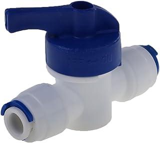 Erisl 4 Way RO Interruptor de v/álvula de Apagado autom/ático 1//4 Pulgadas purificador de Agua Sistema de /ósmosis inversa