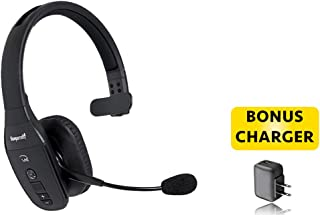 BlueParrott B450-XT Bluetooth Headphones - 204010-AC for High Noise Environments | Car, Wall Charger Included | NFC Ready - Compatible w/Bluetooth Smartphones, Tablets, Android, iOS (Bonus Charger)