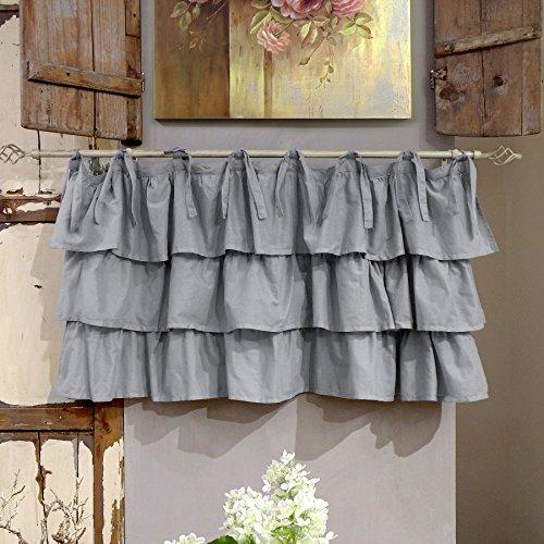Mantovana Shabby Chic con balze Etoile Basic Collection 130 x 60 cm Colore Bianco