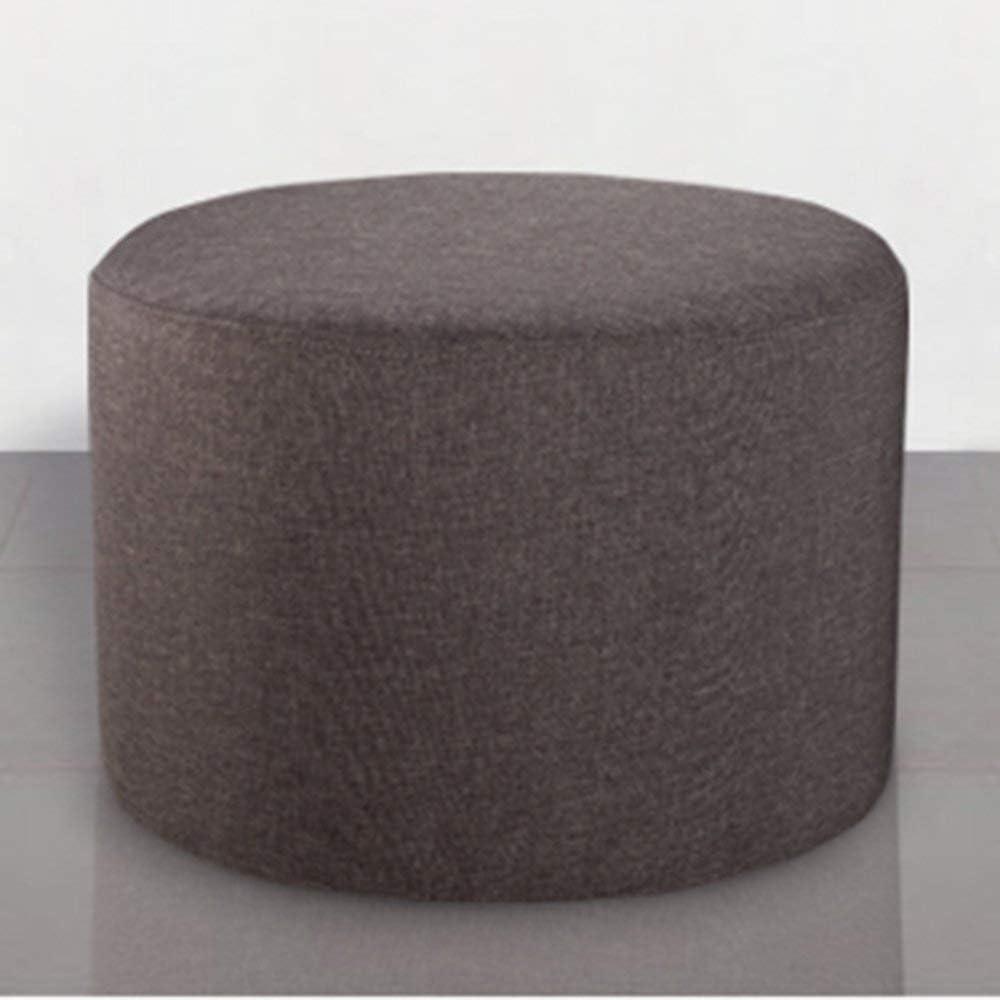 LUO Chaise-Repose-Pieds en Bois Massif Et Tissu Moderne Home Tabouret De Mode Banc De Chaussure Créatif Canapé Tabouret Tabouret pour Enfants Gris