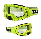 TWO-X Rocket Gafas de motocross amarillo neón transparente MX gafas de motocross Enduro gafas de protección con protección nasal anti arañazos Fast Change