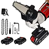 Mini Chainsaw , 4-Inch Cordless Electric Portable Chainsaw One-Hand 0.7kg Lightweight, 24V Portable Handheld Electric Saw, Wood Cutting Pruning Logging for Garden Courtyard Tree and Urban Greening