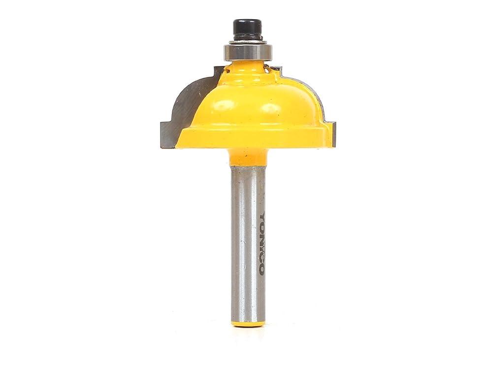 国家ボット絶望的なYonico 13181q 古典的なコーヴ状縁取り ルータービット 半径7.9mm (5/16インチ) シャンク6.4mm (1/4インチ)