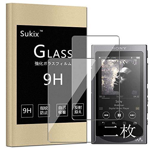 【二枚】 Sukix SONY WALKMAN NW-A30シリーズ NW-A40シリーズ 【 NW-A37HN、NW-A36HN、NW-A35HN、NW-A35NW-A47、NW-A45、NW-A46HN、NW-A45HNなどに対応】 ガラスフィルム 国産旭硝子採用 2.5D ラウンドエッジ 加工 強化ガラス 保護 フィルム 保護ガラス ガラス 30H 液晶保護 プロテクター シート シール