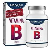 GloryFeel® Vitamin B Complex Alto Dosaggio |200 Compresse | Complesso Vitamine del Gruppo B |Aiutano a Ridurre Stanchezza & Stress Mentale| Vitamine B1 B2 B3 B5 B6 B7 (Biotina) B9 (Acido Folico) B12
