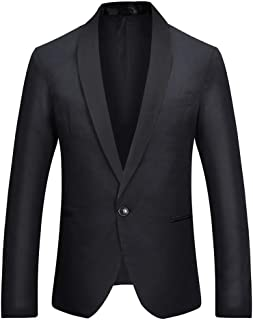 HOOUDO Men Blazer,Autumn Winter Sale ClassicSmartOne Button Dinner Long Sleeve Coat Tuxedo Jackets Wedding Blazer Suit P...