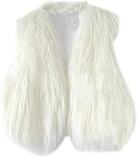 UUYUK Women Sleeveless Woolen Casual Warm Lightweight Waistcoat Jacket Vest