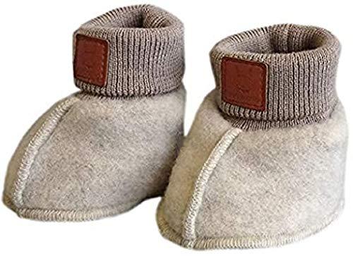 maximo Gots Baby Schuh Wollfleece Größe: 6M Farbe: weiß/original