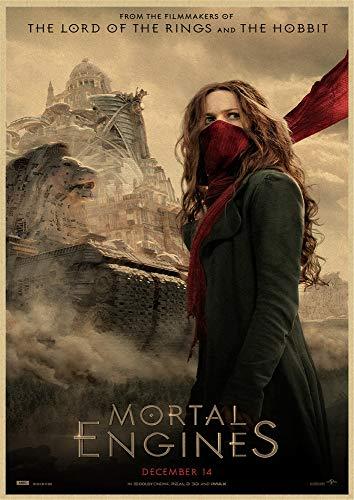 xuyuandass Klassischer Film Mortal Engine Retro Art Poster DIY Hd Wandbild Moderner Hintergrund Home Decoration Ölgemälde Rahmenlos 40X60Cm 6066F