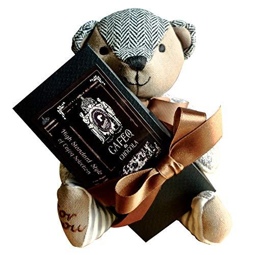 カフェック cafe,q tokyo /カフェック ド ショコラ、テディ ギフト/ボックス チョコレート ギフト (ストロベリーピンク(クラシカル黒ボックス))