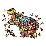 Puzzle de Madera,Rompecabezas de Madera,Animal Puzzle Madera Adultos,Puzzle Animales para Adultos y Niños Colección de Juegos Familiares