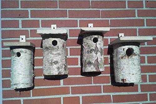 Vogelhaeuser-Raschen Nisthöhlen - Set, bestehend aus 1 x 27 mm Flugloch, 2 x 32 mm Flugloch und 1 x 46 mm Flugloch