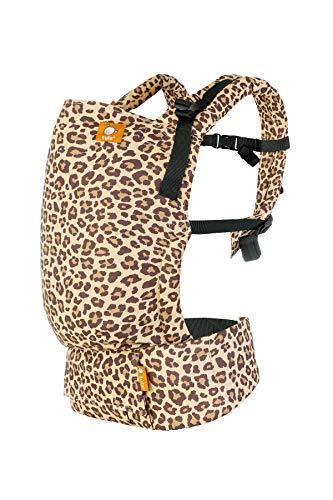 Tula Free-to-Grow - Leopard - Marsupio ergonomico con Coda di Volpe Anteriore e Posteriore da Neonato a Bambino Sicuro con Cappuccio 3,5-20,4 kg