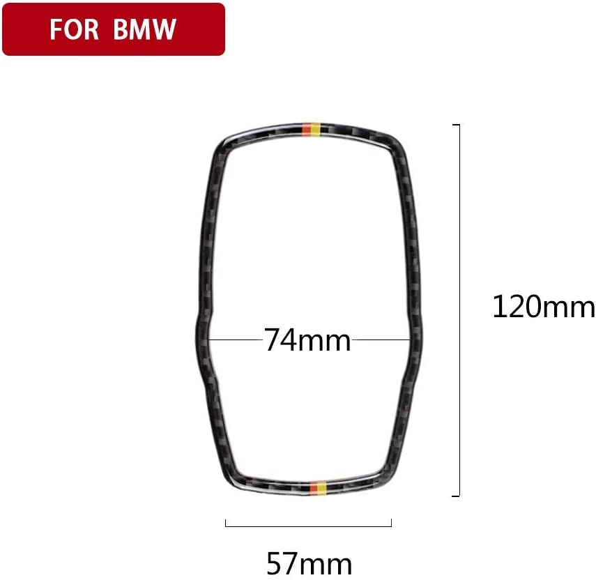 Decorative Sticker Cover Car Accessories Carbon Fiber for BMW F10 F20 F30 F34 F07 F25 F26 F15 F16 Multimedia Button Frame Cover Knob Trim Color : 2