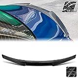 AeroBon Real Carbon Fiber Trunk Spoiler Wing Compatible with 2014-21 Infiniti Q50 Q50S Sedan (V Style)