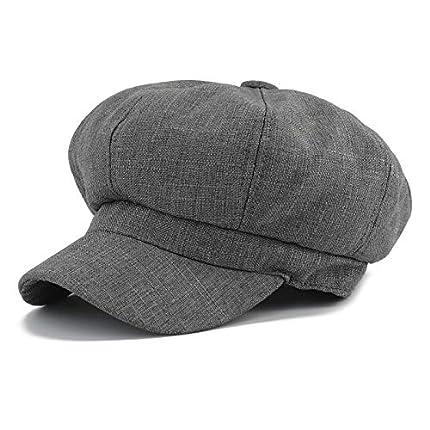 Gisdanchz Sombrero Mujer Boinas Gorras De Mujer Verano Sombrero De Vendedor De Periódicos Moda Casual Ajustable Deporte Vintage Gorras Visera Plana Baratas Boina Lana Newsboy Hat
