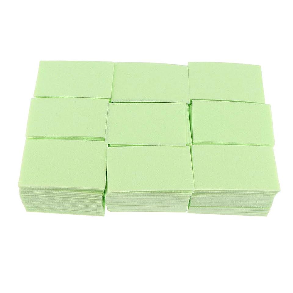 ペア切り刻む口述するP Prettyia 約700枚 ネイルポリッシュリムーバー 綿パッド 2色選べ - 緑