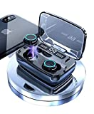 HABI True Wireless Earbuds Touch Control 2021-3300mAh Charging Case Combined Power Bank TWS Earbuds, in-Ear Bluetooth Headphones, Water Proof TWS Earphones, Mini Stereo Sports & Gaming Headset