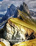 2020 Weekly and Monthly Planner: Dolomites Italy - Monthly Calendar with U.S./UK/...