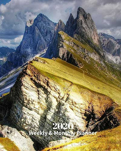 2020 Weekly and Monthly Planner: Dolomites Italy - Monthly Calendar with U.S./UK/ Canadian/Christian/Jewish/Muslim Holidays– Calendar in Review/Notes 8 x 10 in.-Vacation Travel Northeastern Italy