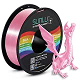 【SUNLU High Gloss Silk PLA】Shiny PLA printer filament is shiner than standard PLA, replicate a realistic metallic look, it has a similar sheen as spray paint. 【SUNLU Silk PLA 1.75mm Smoother Printing】 Recommended extrusion / nozzle temperature 190℃ -...