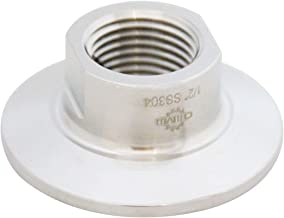 Sanitary Tri clamp 50.5mm to NPT Female Thread Adaptor SS304 Tri clamp Adaptor Pipe Fitting (Thread Size: 1/2