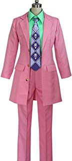 Halloween Kira Yoshikage Party Pink Jacket Outfits Costume-Made