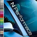 1A Style Sticker kompatibel mit Hyundai i30n mit Auto Aufkleber N-Performance Frontscheibenaufkleber Heckscheiben Tuningaufkleber neu