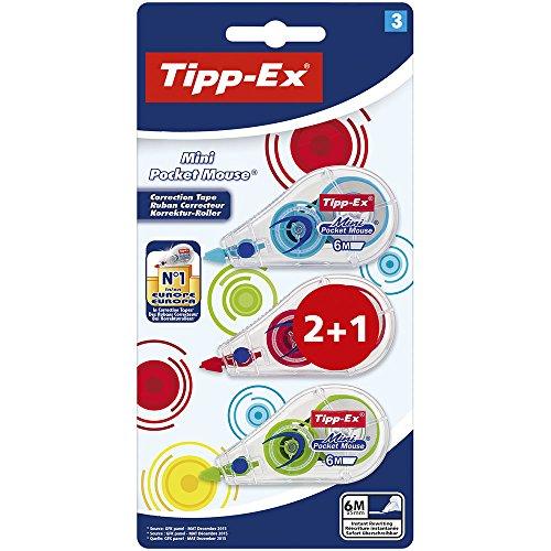 Bic - Tipp-ex mini pocket mouse corrective tape 2 + 1