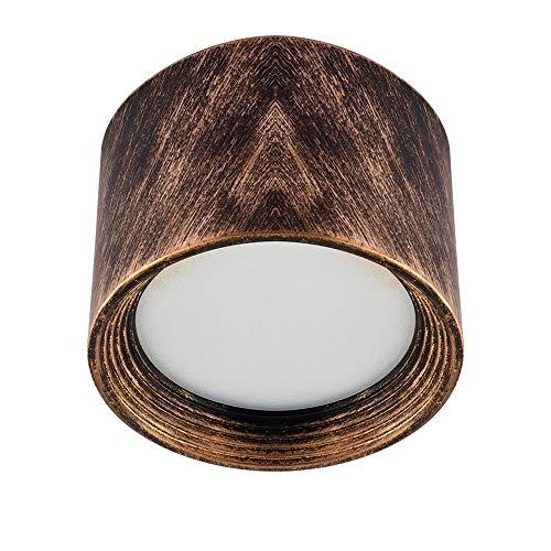 Downlight LED de montaje en superficie retro Downlight de aluminio duradero de larga duración 3W/5W/7W/12W/18W/24W Ahorro de energía Luz de techo COB brillante Downlights de fácil instalación
