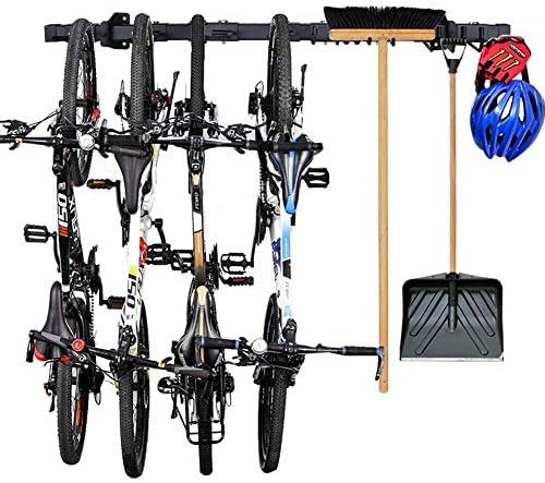 Grepatio Bike Storage Rack Garage Adjustable Wall Mount Organizer Bike Rack Heavy Duty Tools product image