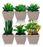 Kit Com 3 Plantas Mini Suculenta Cacto Artificiais Vaso Porcelana