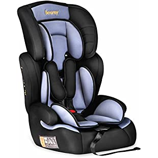 esrey Car Seat Baby Car Booster Seat Group 1 2 3 Suits from 9 Months-12 Years - Black and Grey
