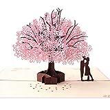 Biglietto d'Auguri Matrimonio d'Amore per Compleanno Romantico Anniversario Nozze Carta 3D...