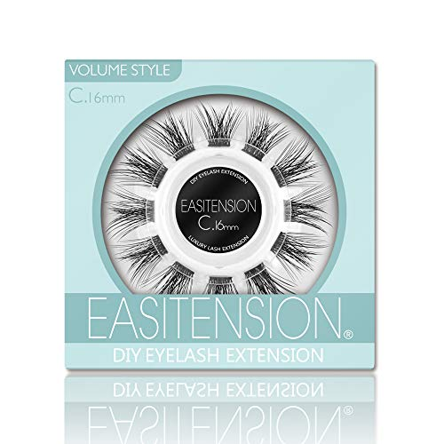 DIY Eyelash Extension, 3D Effect Individual Glue Bonded Lash Clusters Volume Lashes Set, Home Eyelash Extension, Lashes Pack (16MM-Volume)