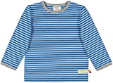 loud + proud Kinder-Unisex Shirt Ringel Aus Bio Baumwolle, GOTS Zertifiziert Sweatshirt, Blau (Cobalt Cob), 80 (Herstellergröße: 74/80)