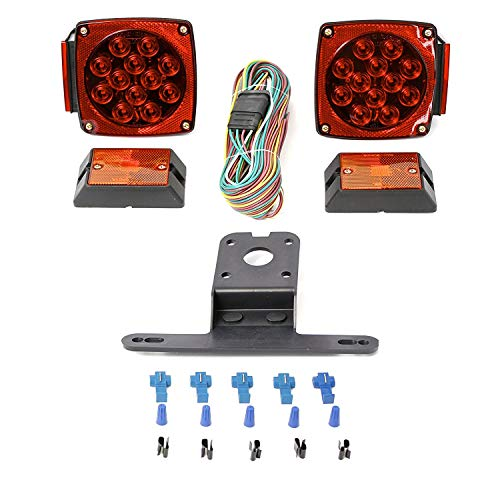 luces para remolque de barco LED 12V, 12V LED sumergible Todas las luces del remolque Kit, Kit de remolque del barco 12V de la luz sumergible impermeable para servicio pesado utilidad, RV, marina, barcos,