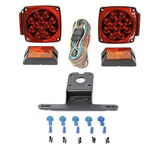 Las luces del remolque LED 12V, 12V LED sumergible Todas las luces del remolque Kit, Kit de remolque del barco 12V de la luz sumergible impermeable para servicio pesado utilidad, RV, marina, barcos,