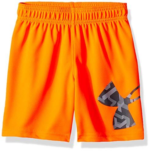 Under Armour Pantalones Cortos Striker para niños, Niños, Pantalones Cortos, 2527G55005-81-P7, Naranja medio-s19, 5