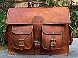 16 'Urbankrafted schöne Vintage Crazy Horse Leder handgemachte Laptop Schulter Umhängetasche - 4