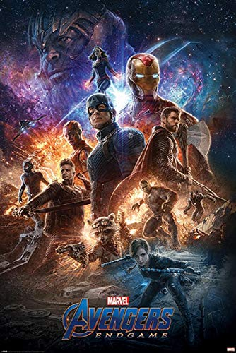Close Up Avengers Endgame Poster from The Ashes - Premium Filmplakat, Hochformat 91,5 x 61 cm