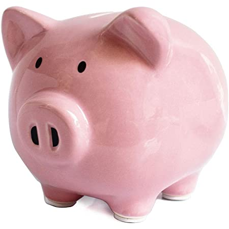 FORLONG FL2028 Pink Bear Piggy Bank Ceramic for Girls and Boys