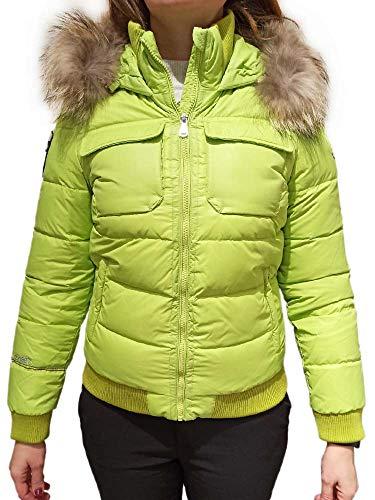 DOLOMITE Chaqueta de plumón Fitz Roy 2.0 WJ para mujer, con capucha, color lima, talla 44 (M) Z1/05 Verde M
