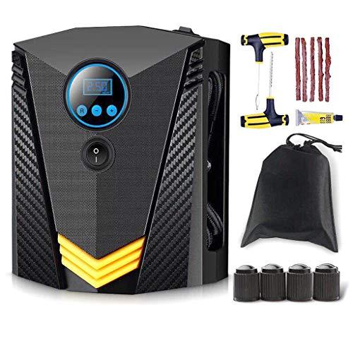 Gonfleur de pneu numérique pour jauge de voiture - Compresseur d'air portatif - Pompe automatique électrique | Facile à ranger - arrêt automatique - 12V