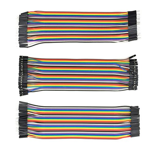 120Piezas Hembra a Hembra/Macho a Macho/Macho a Hembra de Cable DuPont para cable Arduino, jumper cable, Raspberry Pi cable para Arduino Breadboard (40 Pines Macho-Hembra, 40 Pines Macho-Macho, 40 Pines Hembra-Hembra)