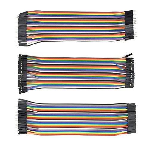 AptoFun 3 Stück 40x20 cm Female-Female/Male-Female/Male-Male steckbrücken Kabel/fdd Kabel für Arduino und Raspberry pi