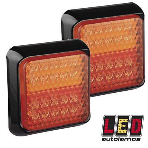 Paire de feux arrière LED 12 V 24 V pour remorque/caravane